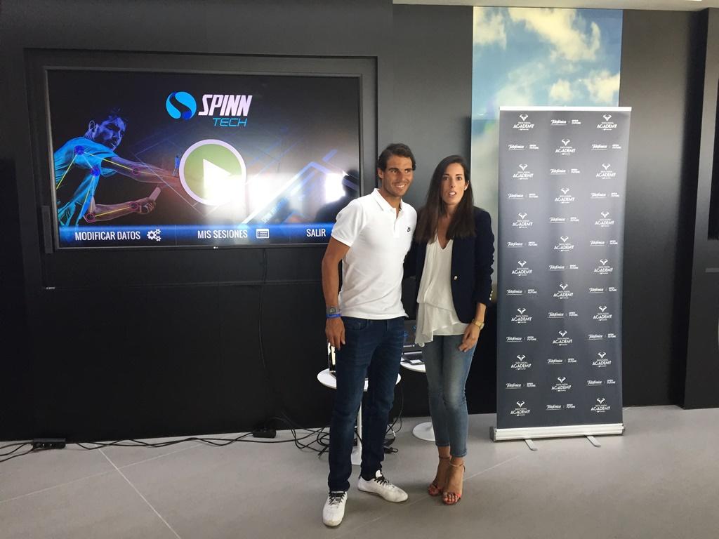 Acto con Spinntech en Rafa Nadal Academy by movistar web