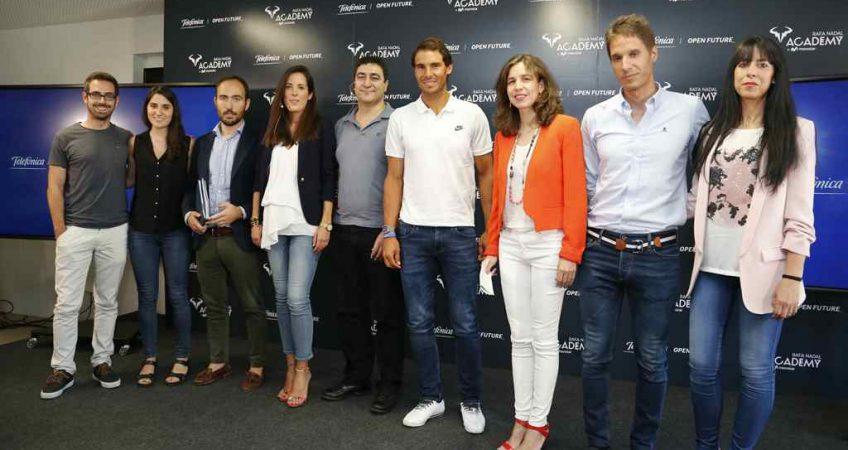 Acto con startups en Rafa Nadal Academy by movistar 2 web