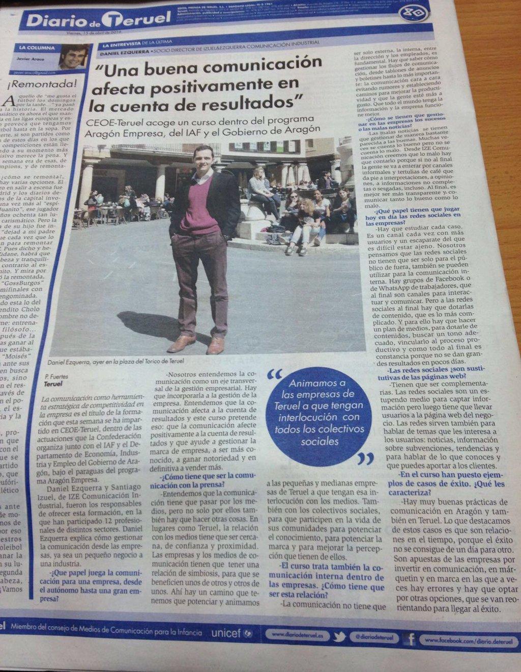 Diario Teruel entrevista formacion