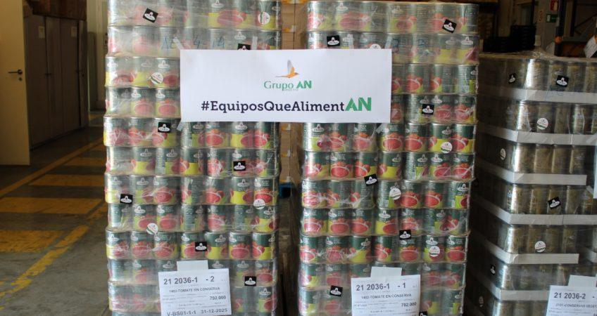 Donación Grupo AN Banco Alimentos Zaragoza web