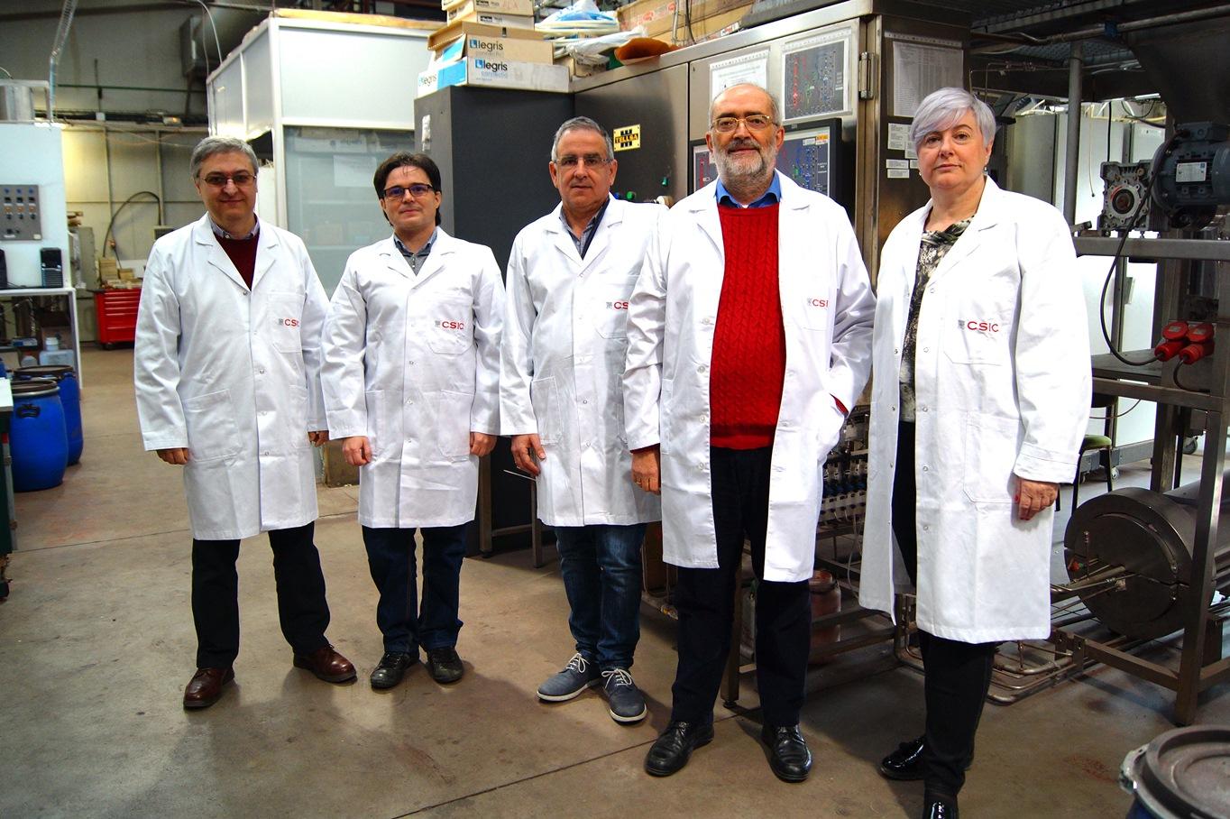 científicos del CSIC del Instituto de Carboquímica- Francisco García, Alberto Abad, Juan Adánez, Luis de Diego y Pilar Gayán