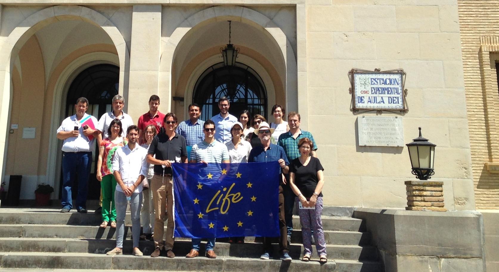 miembros del proyecto europeo LIFE+Multibiosol, precursor del grupo Agrobiosol